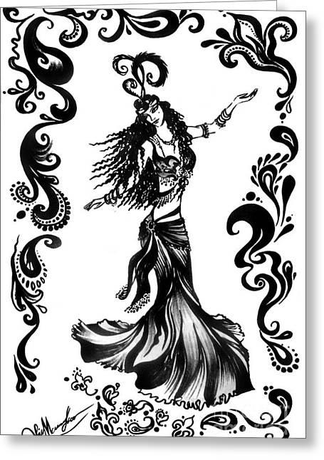 Dancer Ameynra. Belly Dance Super Star  Greeting Card by Sofia Goldberg