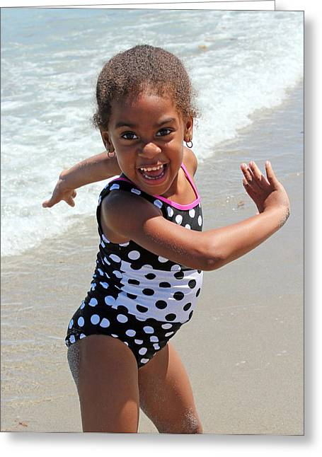 Dancing On The Beach Greeting Cards - Dancer Diva Greeting Card by Audrey Robillard