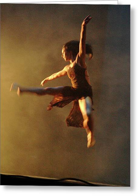 Art For The Dancer Greeting Cards - Dancer In Flight Greeting Card by Scott Lightfoot