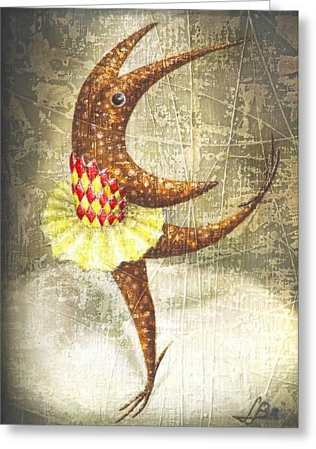 Imaginary World Greeting Cards - Dancer Greeting Card by Lolita Bronzini