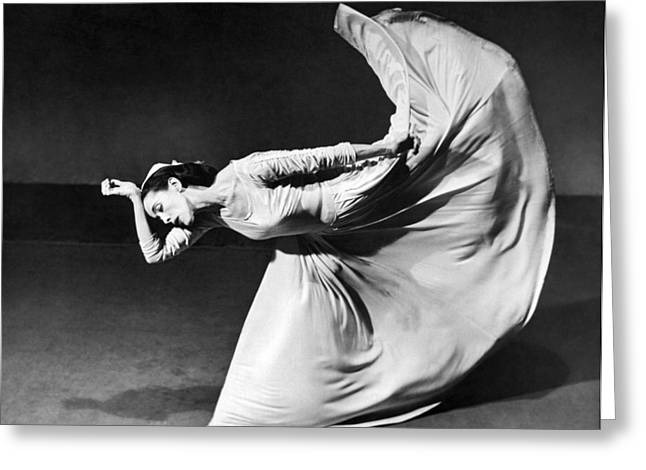 Mid-adult Greeting Cards - Dancer Martha Graham Greeting Card by Barbara Morgan