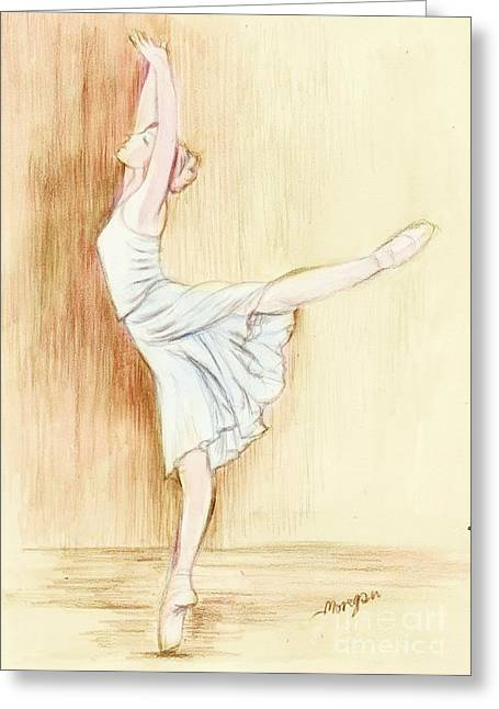 Ballet Dancers Greeting Cards - Dancer Greeting Card by Morgan Fitzsimons