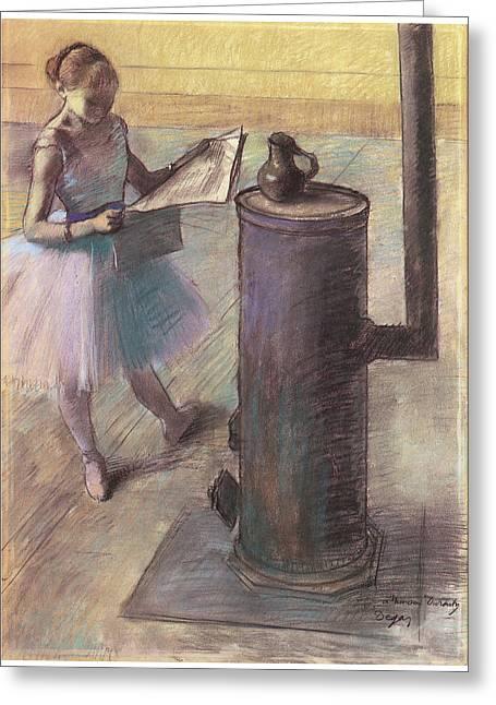 Dancer Art Greeting Cards - Dancer Resting Greeting Card by Edgar Degas