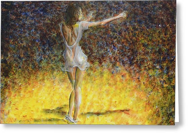 Dancer Spotlight Greeting Card by Nik Helbig