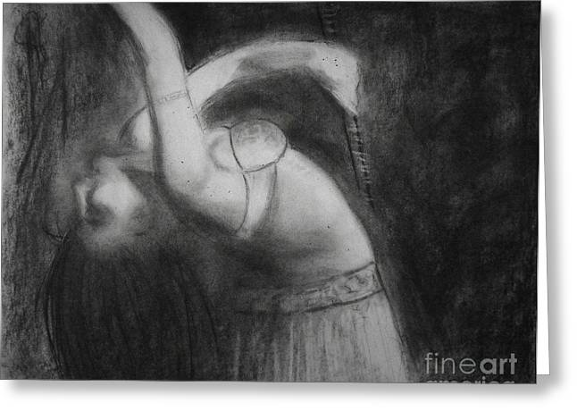 Blur Drawings Greeting Cards - Dancer  Greeting Card by Viviana Puello Villa