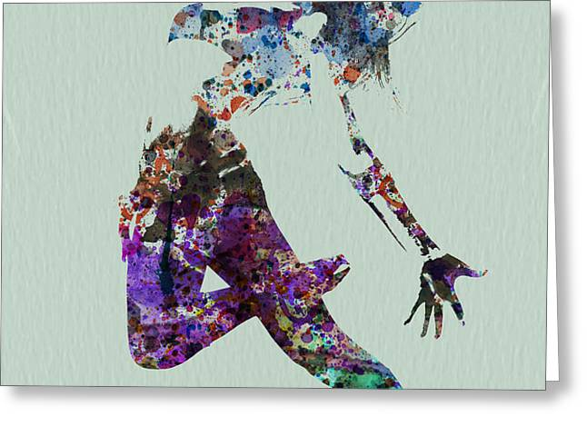 Dancer watercolor Greeting Card by Naxart Studio