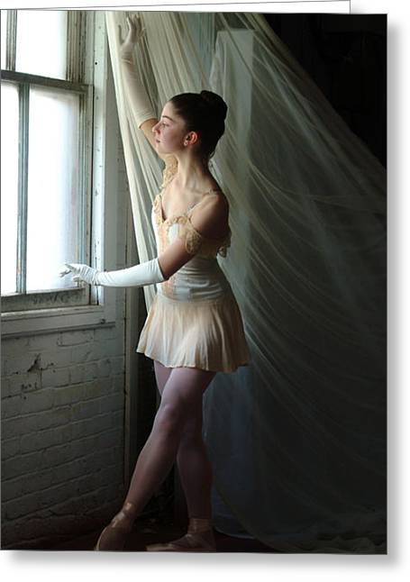 Glove Greeting Cards - Dancer With White Gloves Greeting Card by Georgia Sheron