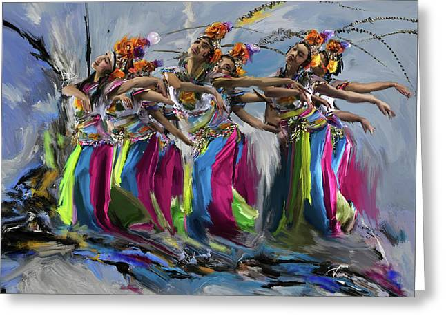 Dancers 264 1 Greeting Card by Mawra Tahreem