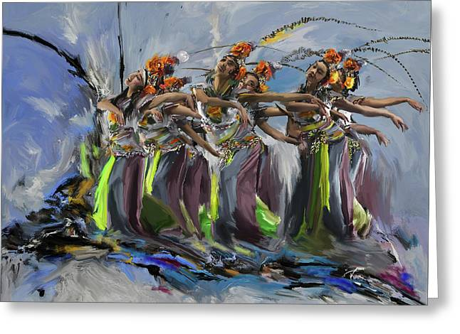Dancers 264 2 Greeting Card by Mawra Tahreem