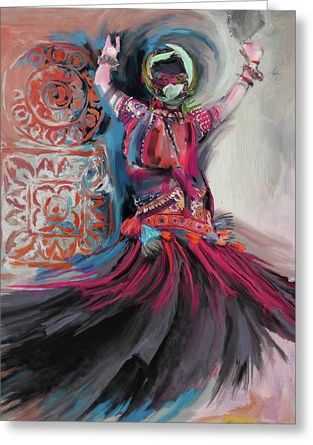 Dancers 265 3 Greeting Card by Mawra Tahreem