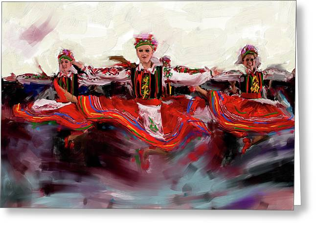 Dancers 268 2 Greeting Card by Mawra Tahreem