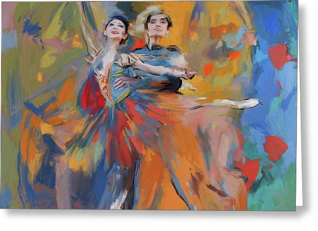 Dancers 278 1 Greeting Card by Mawra Tahreem