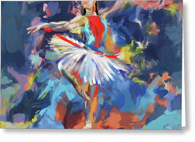 Dancers 279 1 Greeting Card by Mawra Tahreem