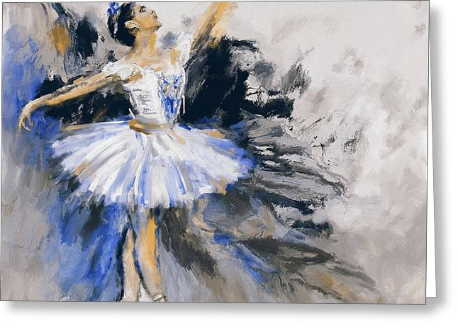 Dancers 279 3 Greeting Card by Mawra Tahreem