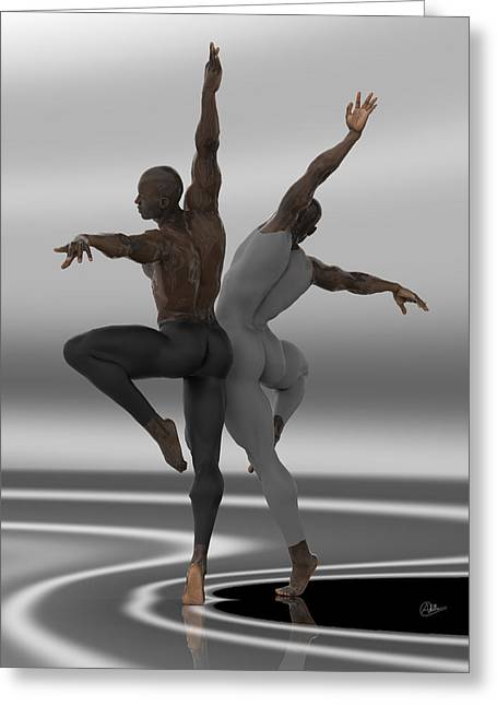 Ballet Dancers Mixed Media Greeting Cards - Ballet Dancers  Greeting Card by Quim Abella