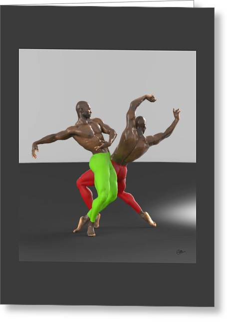 Ballet Dancers Mixed Media Greeting Cards - Dancers assay Greeting Card by Quim Abella