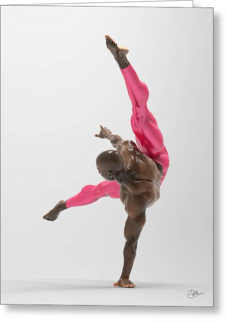 Ballet Dancers Mixed Media Greeting Cards - Acrobatic dancer assay Greeting Card by Quim Abella