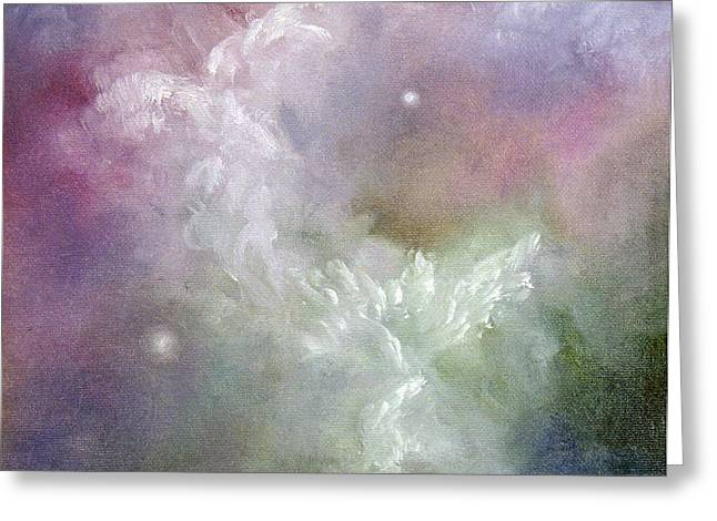 Dancing Angels Greeting Card by Marina Petro