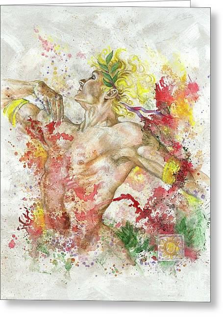 Dancing Apollo Greeting Card by Rineke De Jong