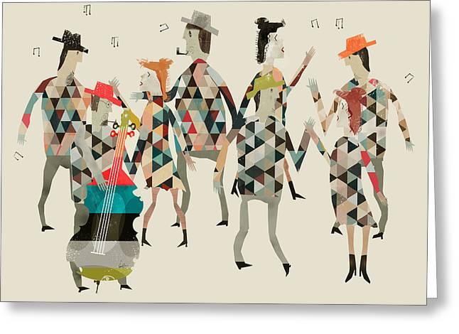 Playing Digital Greeting Cards - Dancing Greeting Card by Bri Buckley