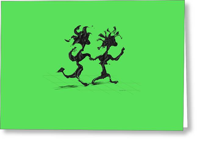 Dancing Couple 7 Greeting Card by Manuel Sueess