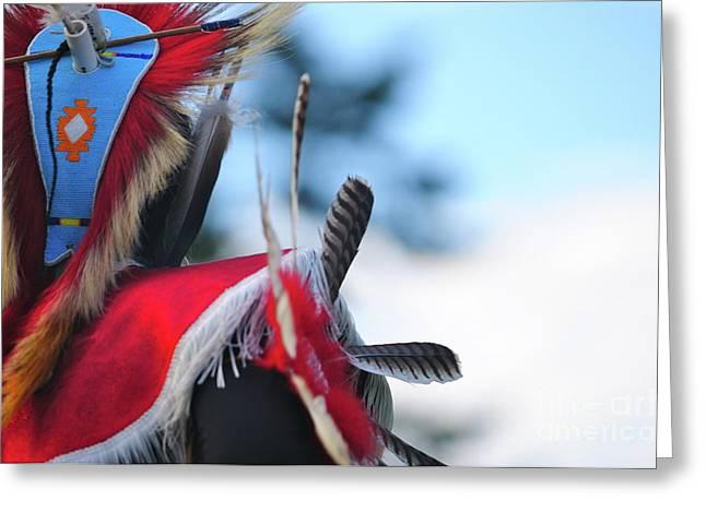Fancy-dancer Greeting Cards - Dancing In Feather Flight Greeting Card by Susana Bonadea