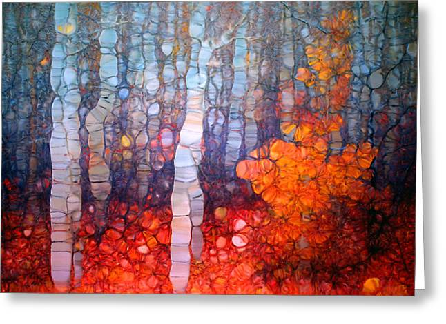 Distortion Greeting Cards - Dancing in the Forest Greeting Card by Tara Turner