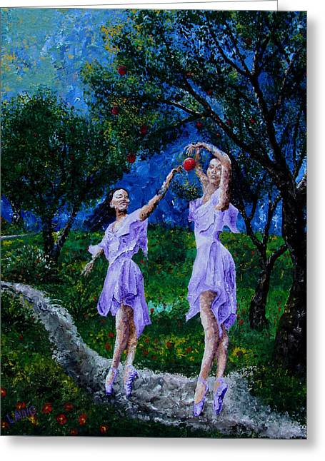 Ballet Dancers Greeting Cards - Dancing In The Garden Of Delights  Greeting Card by Aarron  Laidig