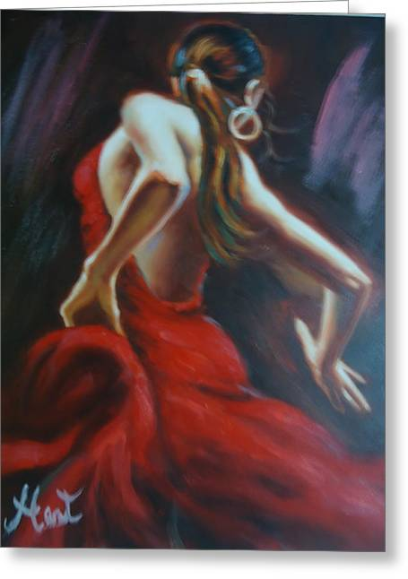 Dancing In The Twilight Hour Greeting Card by Rodney Hart