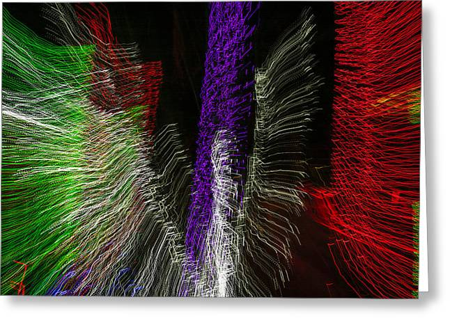 Observer Greeting Cards - Dancing Lights 4 Greeting Card by Penny Lisowski