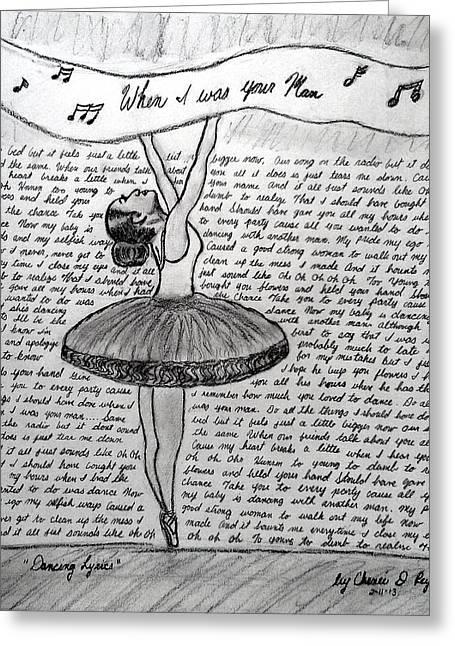 Dancing Lyrics Greeting Card by Chenee Reyes