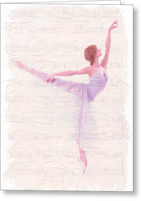 Ballet Dancers Paintings Greeting Cards - Dancing Melody Greeting Card by Stefan Kuhn