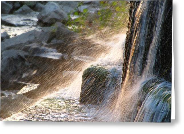 Stepping Stones Greeting Cards - Dancing on Glass Greeting Card by Scott Hovind