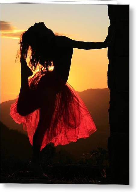 Dancer Photographs Greeting Cards - Dancing on High Greeting Card by Sherrie Chavez