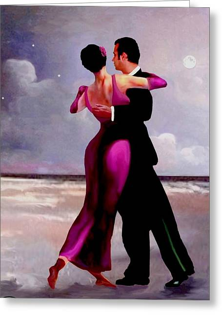 Dancing On The Beach Greeting Cards - Dancing on the Beach Greeting Card by Ronald Chambers