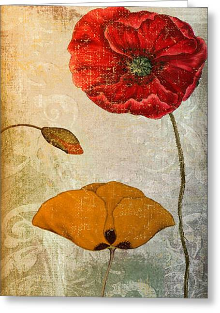 California Poppy Greeting Cards - Dancing Poppies III Greeting Card by Mindy Sommers