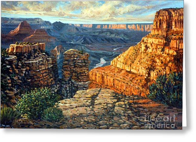 South Rim Greeting Cards - Dancing Rock Greeting Card by Donald Maier