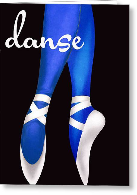 Barre Greeting Cards - Dancing Shoes Greeting Card by Mindy Sommers