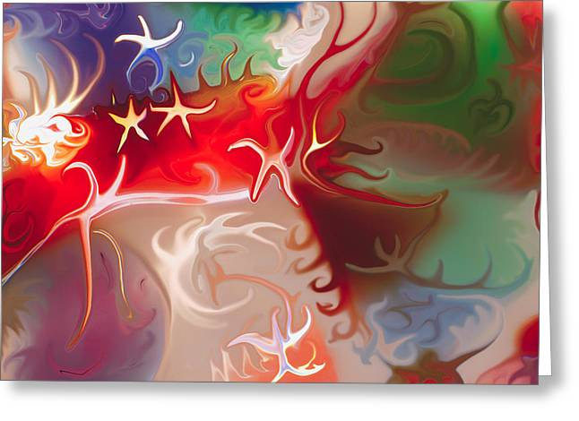 Dancing Stars Greeting Card by Omaste Witkowski