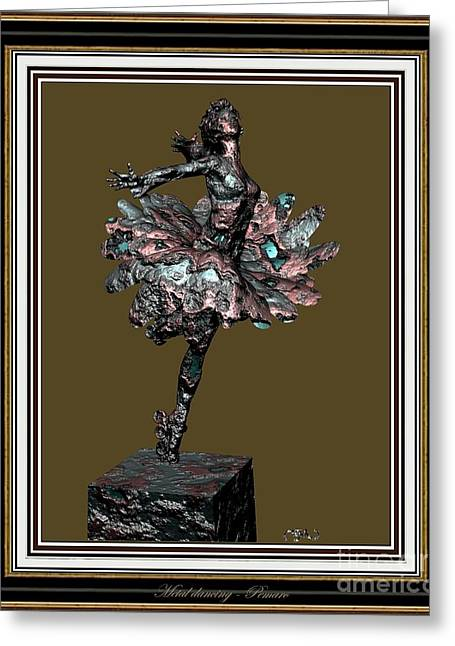 Statue Portrait Greeting Cards - dancing Statue 1MS3DS2 Greeting Card by Pemaro