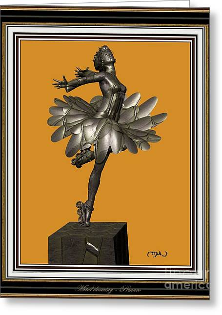 Dancing Girl Greeting Cards - dancing Statue 2MS3DS2 Greeting Card by Pemaro