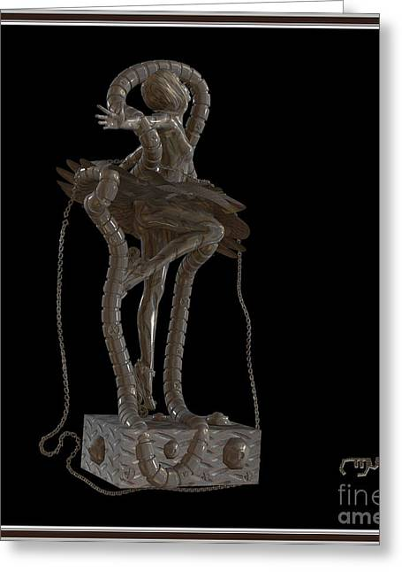 Dancing Girl Greeting Cards - dancing Statue MS1DS1 Greeting Card by Pemaro