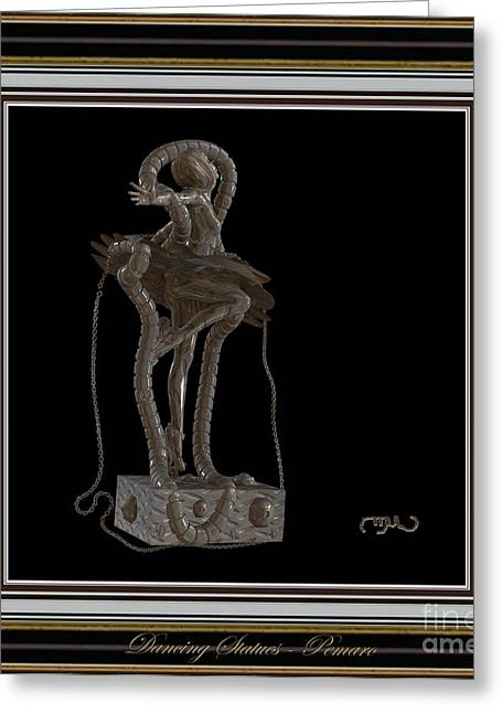 Dancing Girl Greeting Cards - dancing Statue MS1DS2 Greeting Card by Pemaro