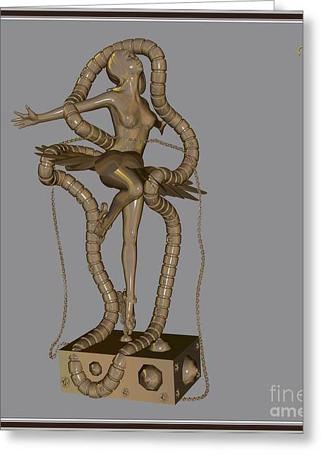 Dancing Girl Greeting Cards - dancing Statue MS2DS1 Greeting Card by Pemaro