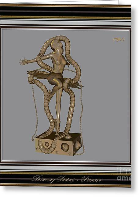 Dancing Girl Greeting Cards - dancing Statue MS2DS2 Greeting Card by Pemaro