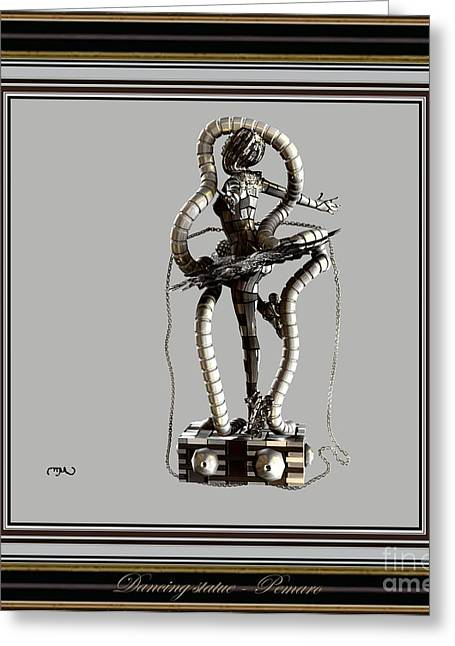 Dancing Girl Greeting Cards - dancing Statue MS3DS2 Greeting Card by Pemaro