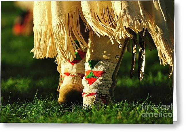 Dancing To The Drum Greeting Card by Susana Bonadea