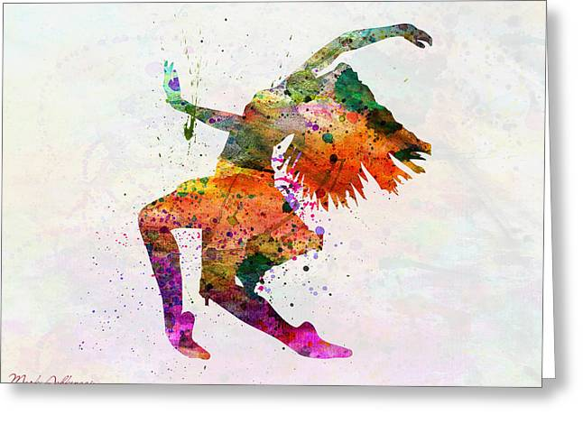 Dancing To The Night  Greeting Card by Mark Ashkenazi