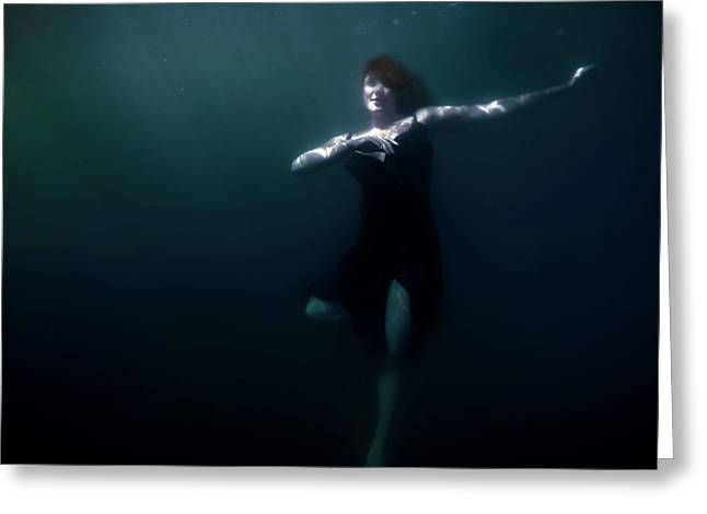Dancing Under The Water Greeting Card by Nicklas Gustafsson