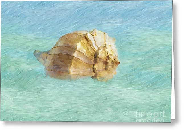 Shell Texture Digital Art Greeting Cards - Dancing With the Sea Greeting Card by Betty LaRue